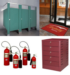 Horizontal or Vertical Mailboxes, Pedestal Cluster Box Units and Restroom Building Supplies